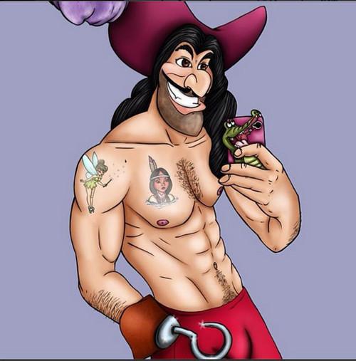 迪士尼各卡通恶魔主角手机自拍照