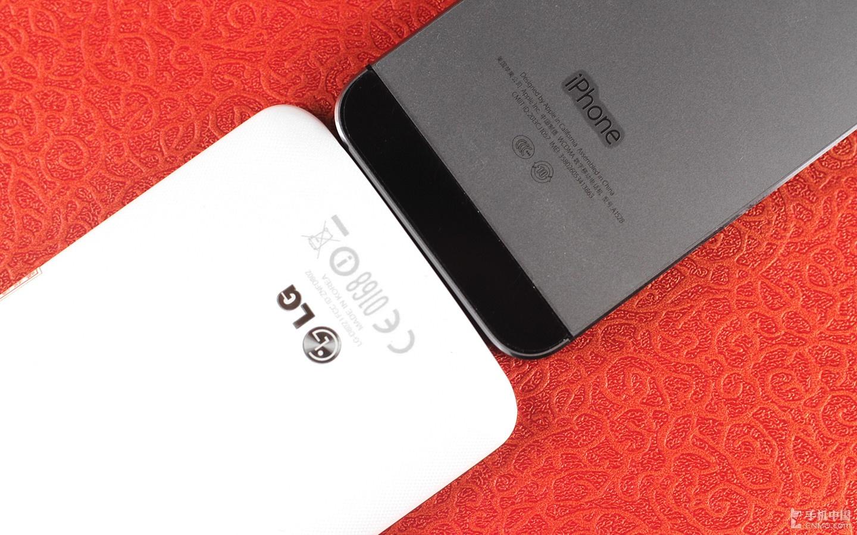 背部按键pk指纹识别 iphone 5s对比lg g2