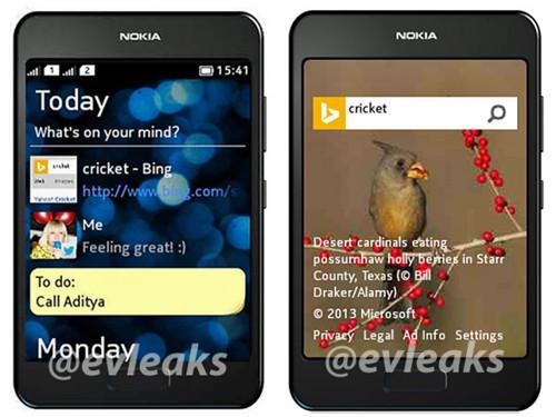 外观风格改变 诺基亚全新Asha手机曝光