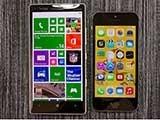 微软大战苹果 Lumia Icon对比iPhone 5s