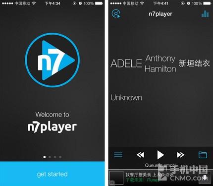 界面可实现多点触摸 N7音乐播放器限免