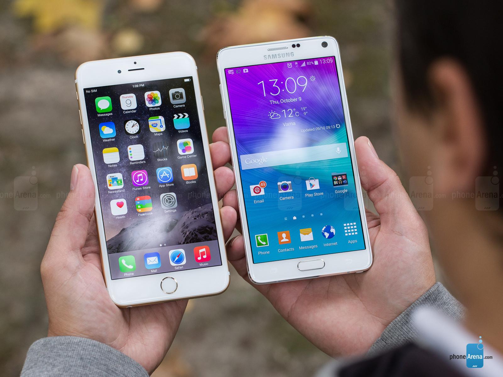 苹果 手机图片 plus/2014/10/13 大屏机皇之争iPhone6 Plus对比Note 4