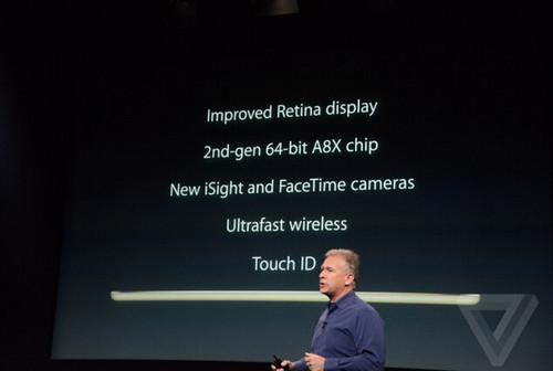 指纹识别/2GB内存 iPad Air 2正式发布