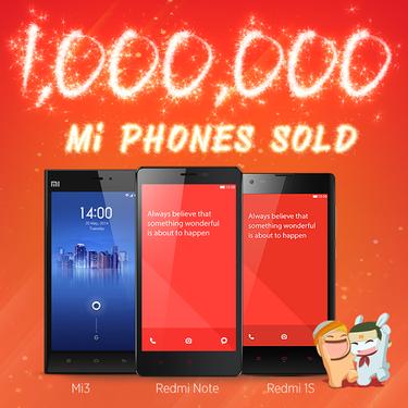 里程碑 小米手机在印度已出货100万台第1张图