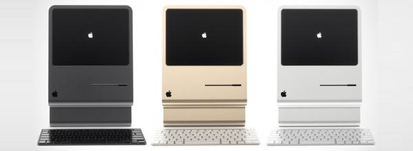 向经典Mac电脑致敬 可以站起来的Mac概念机