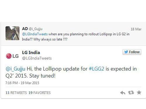 印度LG G2将于二季度更新至Android 5.0