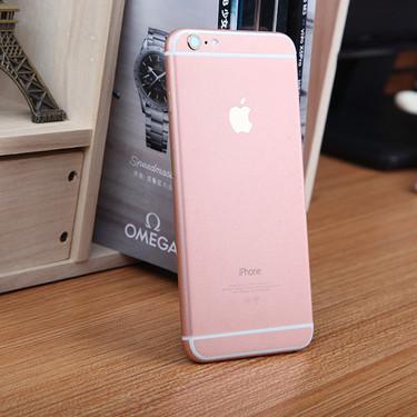 iphone6玫瑰金贴膜秒变玫瑰金!