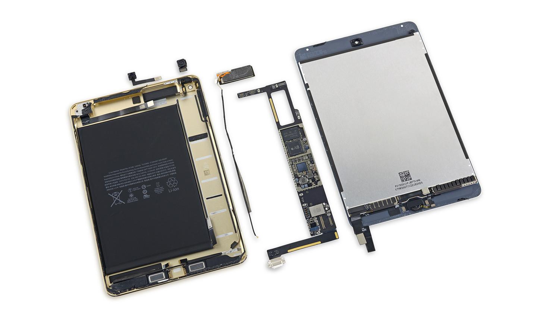 机身薄了电池小了 苹果ipad mini 4拆解