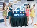 美女展示Sony Xperi