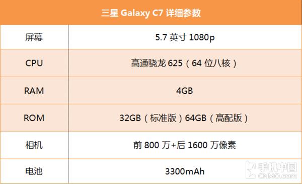 三星Galaxy C7评测:大厂也需接地气儿
