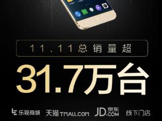 乐视手机双11最终战报:总销量31.7万台