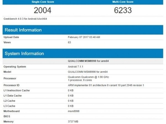 搭载骁龙835的小米MIX EVO跑分创新高