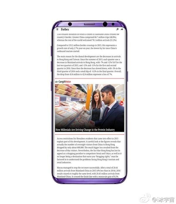 """颜色同样是关乎手机颜值的一个重要方面,目前被曝光的S8已经有蓝、绿、红、银、黑版本,传闻还有""""基佬紫"""",预计也会有经典的白色和金色,真的是色彩斑斓!"""