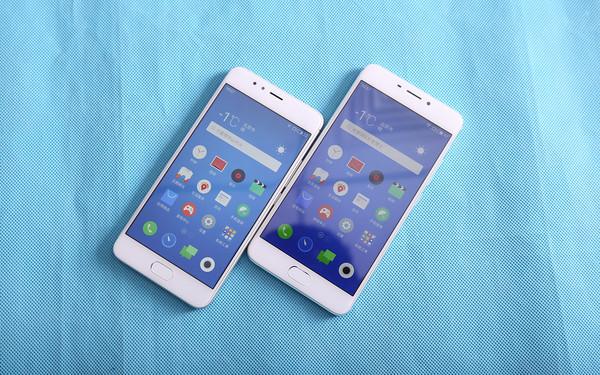 魅蓝5s(左)和魅蓝Note5(右)