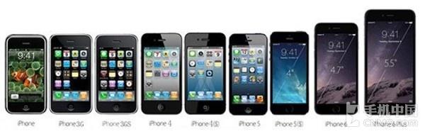 历代iPhone