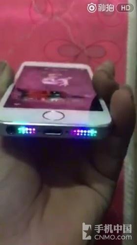 这苹果iPhone 5s你见过?跑马灯亮瞎了