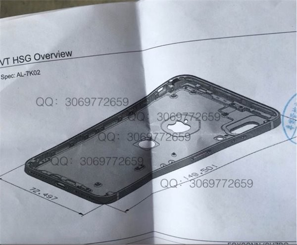 疑似iPhone 8设计图
