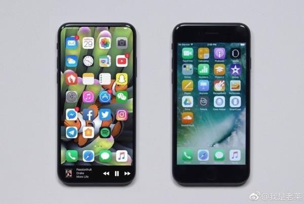 左为iPhone 8渲染图