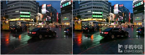 左侧为手机拍摄原图,右侧为修图软件一键美化