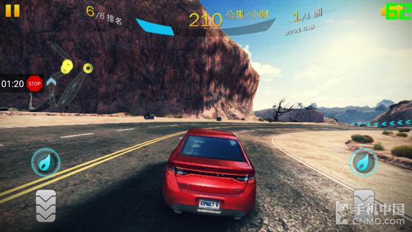 努比亚Z17玩《狂野飙车8》界面