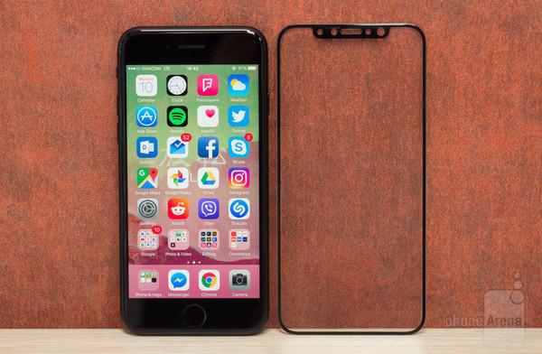【圖片1】iphone8鋼化膜曝光竟無前置指紋