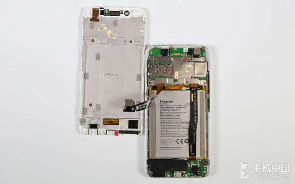 海信手机h10拆机 做工良好结构不复杂