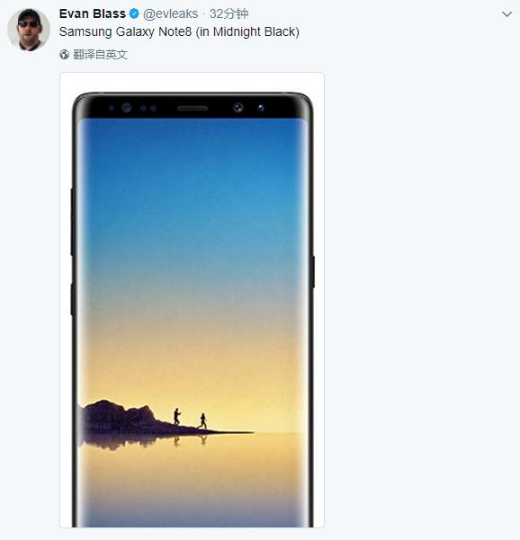 叁星Note 8定妆照:屏幕更父亲/屏占比更高