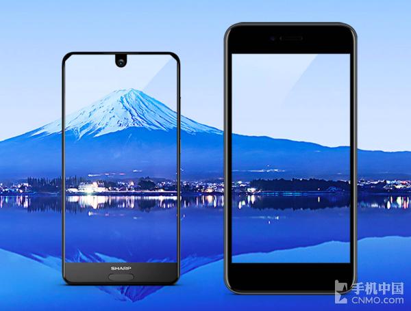 夏普AQUOS S2(左)跟普通手机对比