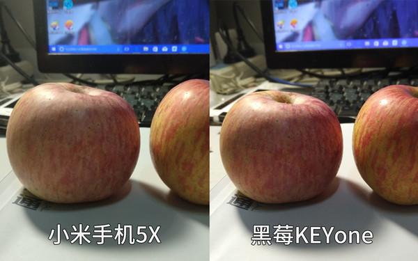 黑莓KEYone拍出的苹果观感更好