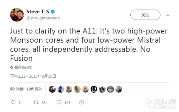 """A11处理器采用""""2小核+4大核""""设计"""
