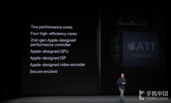 A11仿生芯片搭载了苹果自研发的GPU、ISP以及视频编码器