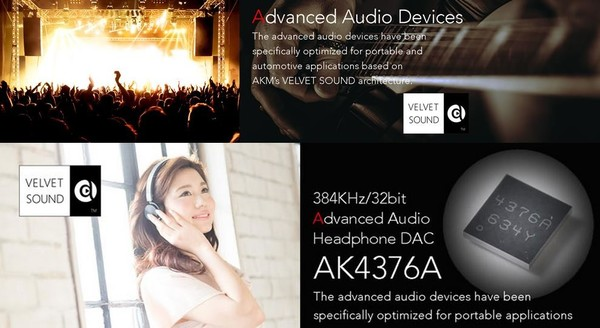 AKM公司的AKM 4376A HiFi芯片(图片来自AKM公司官网)