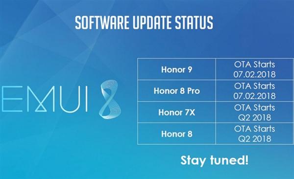 荣耀4款老机型确认升级EMUI 8.0 你的呢?