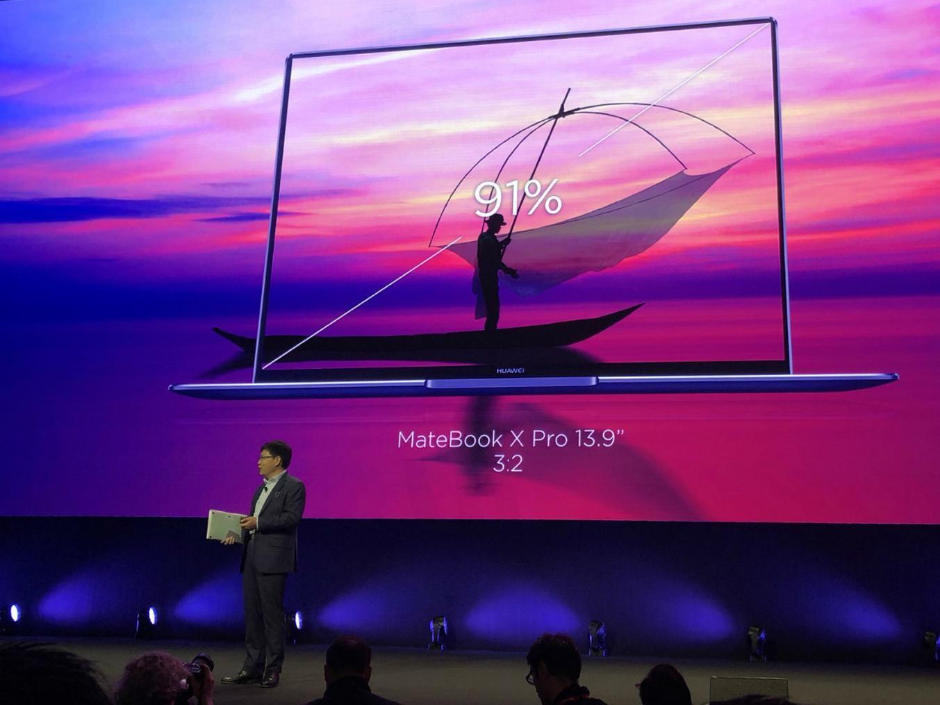 华为MateBook X Pro上手 笔电也玩全面屏