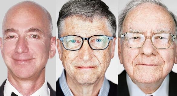 福布斯发布2018年亿万富豪榜(图片来自网络)