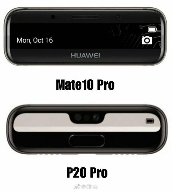 华为P20 Pro外观对比Mate 10 Pro