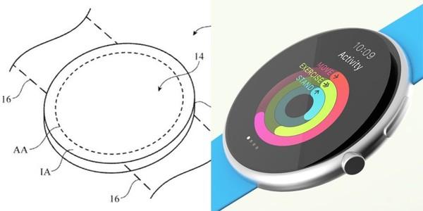 Apple Watch专利图与网传渲染图