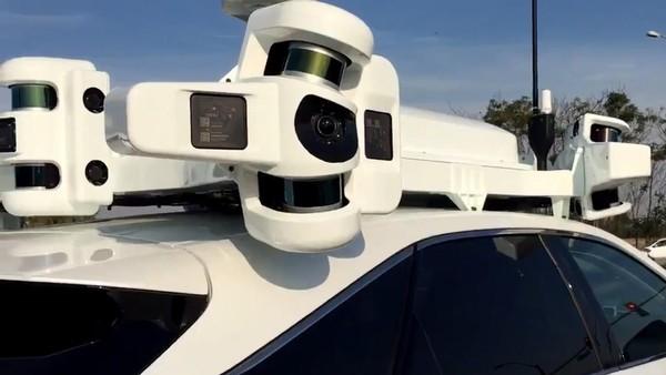 苹果自动驾驶车队的传感器阵列