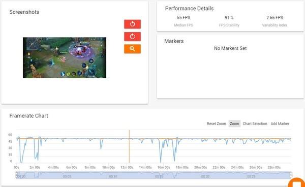 GameBench软件侦测数据
