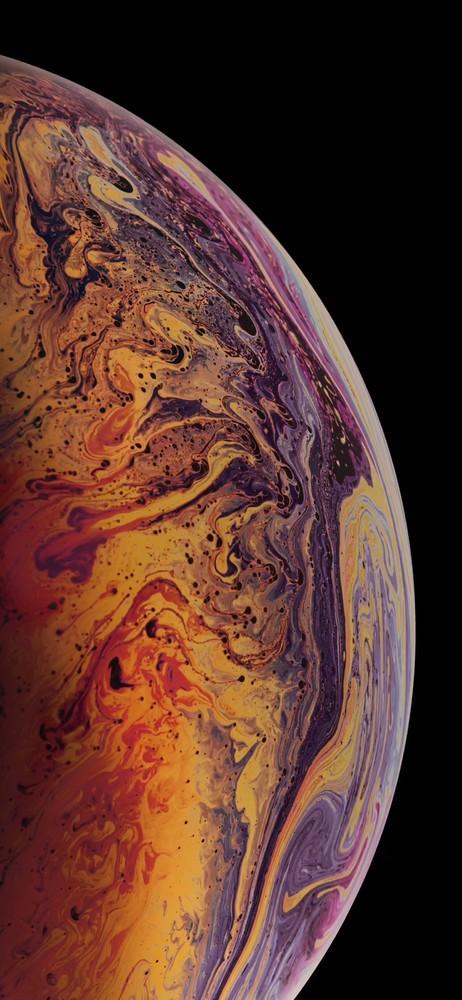 苹果气泡壁纸_iPhone XS原生壁纸下载 彩色气泡超梦幻 - 手机中国