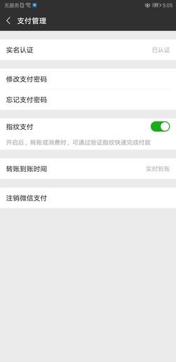 荣耀Note10开启微信指纹支付