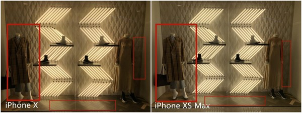 iPhone X和iPhone XS Max室内对比样张
