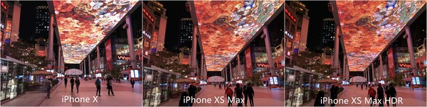 iPhone X和iPhone XS Max室外夜间样张