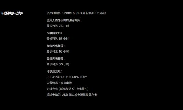 官方表示iPhone XR的续航要长于iPhone 8 Plus
