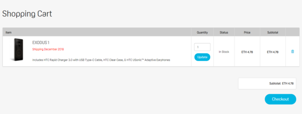 售价0.15比特币 HTC EXODUS 1开启公测