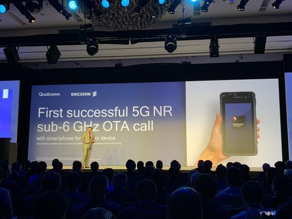 高通与爱立信合作的5G网络移动测试平台