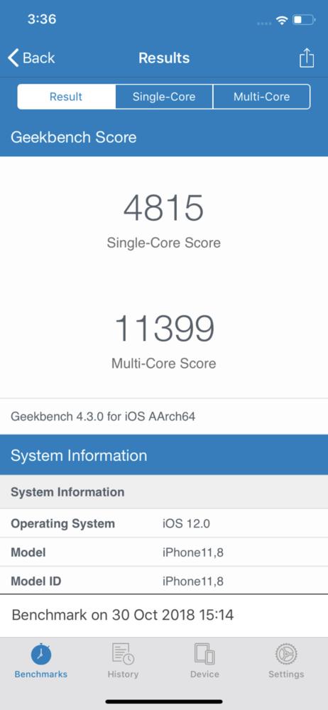 iPhone XR跑分