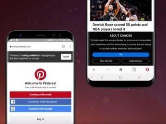 Android版Opera将摆脱烦人的cookie提示