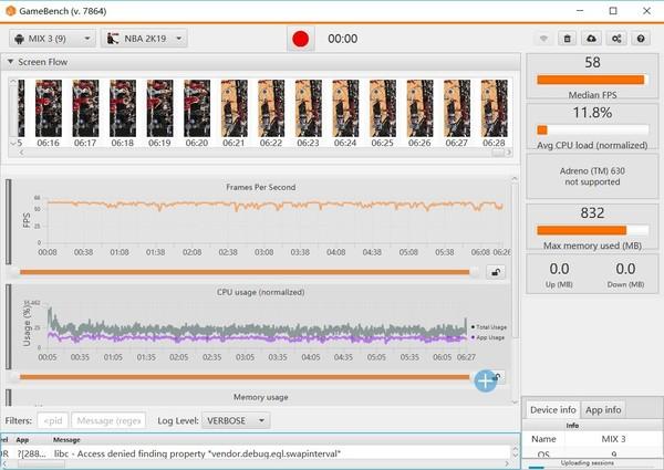 NBA 2K19GameBench游戏帧率