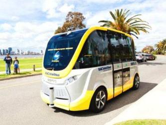 韩国KT在韩国机场开始测试无人驾驶巴士